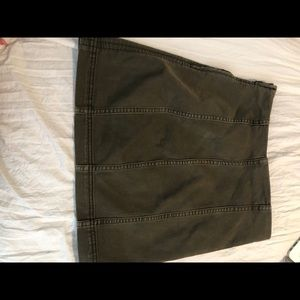FREE PEOPLE army green skirt!